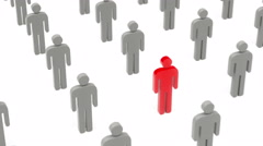 3D People - Standing Out From The Crowd. Stock Footage