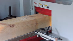 Manufacture of wood on the machine Stock Footage
