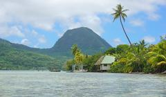 Shore of an islet Huahine island French Polynesia Stock Photos