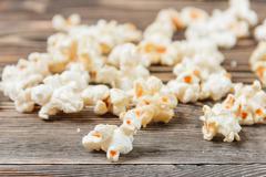 Popcorn Texture Background Unhealthy Food - stock photo