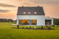Beautiful home far from city noise - stock photo