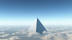 Ufo flying spaceship pyramid Animation 3D Stock Footage