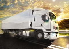 Truck transport - stock photo