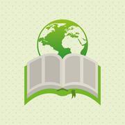 Ecological book design Stock Illustration