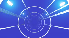 Blue tunnel Animation 3D Stock Footage