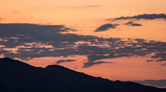 Las Vegas Valley Sunrise Time Lapse with Zoom In Stock Footage