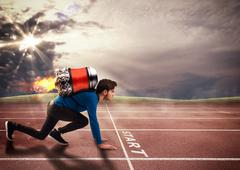 Push to overcome obstacles Stock Photos