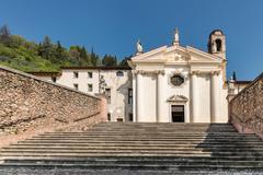 Church of the Madonna del Carmine in Marostica, Italy. Stock Photos
