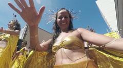 Street Carnival of Rio de Janeiro # 37 (Slow Motion) Stock Footage