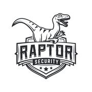 Raptor sport logo mascot design. Vintage college team coat of arms. Military Stock Illustration