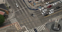 Time lapse looking at intersection in Downtown LA 4K Stock Footage