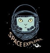 Space explore Stock Illustration