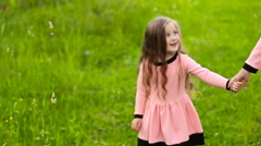 Mother with child walk Stock Footage