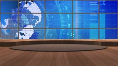 News TV Studio Set 174- Virtual Green Screen Background Loop - stock footage