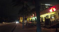 Travel Fort Lauderdale night video 4k Stock Footage