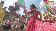 Street Carnival of Rio de Janeiro # 36 (Slow Motion) Stock Footage