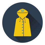 Icon of raincoat Stock Illustration