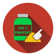 Icon of Protein conteiner Stock Illustration