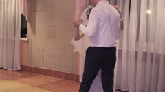 Slow dance newlyweds Stock Footage