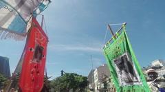 Street Carnival of Rio de Janeiro # 35 (Slow Motion) Stock Footage