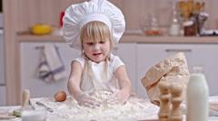 Enjoying Baking from Childhood Stock Footage
