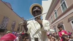 Street Carnival of Rio de Janeiro # 34 (Slow Motion) Stock Footage