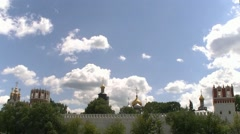 The Novodevichy monastery Stock Footage