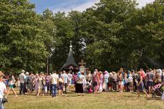 SLAVGOROD, BELARUS - AUGUST 16: The Blue Krynica. mass pilgrimage for healing - stock photo