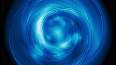 Bright blue abstract rotation video clip Stock Footage