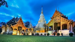 Wat Phra Singh temple ,Chiangmai Thailand. (dolly shot) Stock Footage