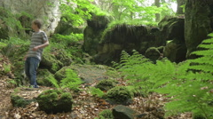 Hike In Beautiful Nature Explorer Urban Young Man Exploring Uncharded Raidor Stock Footage