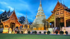 Wat Phra Singh temple ,Chiangmai Thailand. (dolly shot) - stock footage