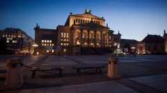 Walking timelapse of the Konzerthaus at the Gendarmenmarkt in Berlin. Stock Footage