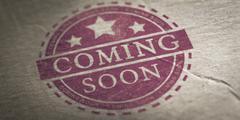 Coming Soon Announcement Stock Photos