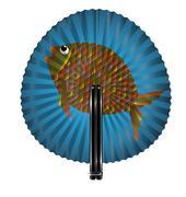 fan and fish - stock illustration