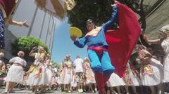 Street Carnival of Rio de Janeiro # 33 (Slow Motion) Stock Footage