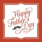Happy father's day hand lettering calligraphic design with element Stock Illustration