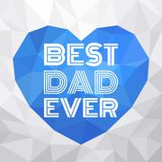 father's day typographic illustration vector - stock illustration