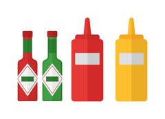 BBQ sauce vector illustration Stock Illustration