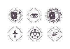 Esoteric symbols vector illustration Piirros