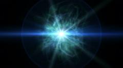 star ray nebula clouds - stock footage
