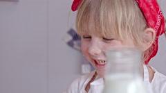 Adorable Little Baker Stock Footage