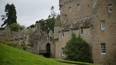 Castle bascule bridge panorame Stock Footage