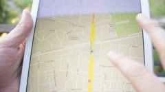 Google Maps iPad Tablet browsing European City - stock footage
