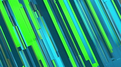 Abstract green and blue lines motion background Stock Footage