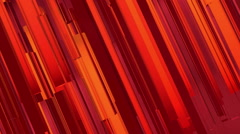 Abstract red, orange, pink lines motion background - stock footage