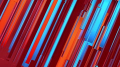 Abstract red, orange and blue lines background Stock Footage