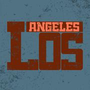 T shirt typography Los Angeles CA blue Stock Illustration