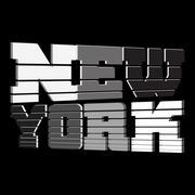 T shirt New York black white gray Stock Illustration