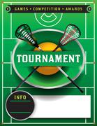 Lacrosse Tournament Flyer Template - stock illustration